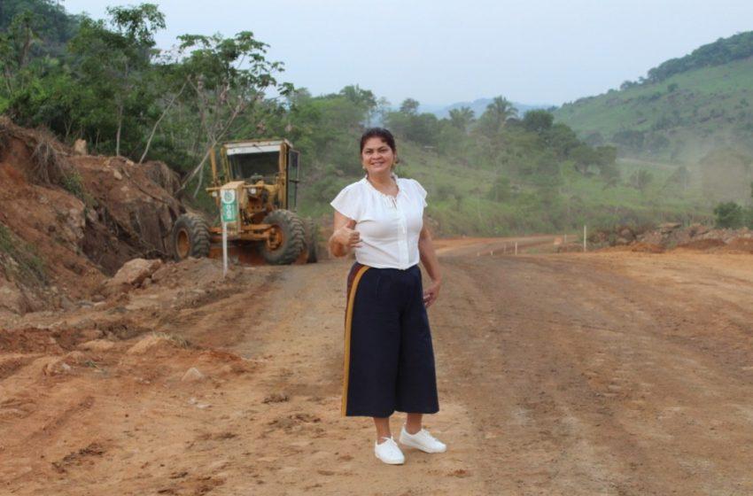 Indicado por Deputada Cassia, asfaltamento das serras de Tarilândia já é realidade