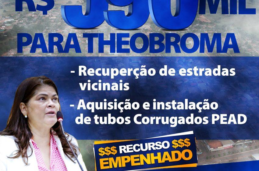 DEPUTADA CASSIA DESTINA EMENDA DE 590 MIL PARA THEOBROMA