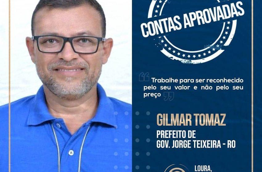 GOV. JORGE TEIXEIRA- Prefeito Gilmar Tomaz e Vice Agnaldão: tem suas Prestações de Contas Eleitorais Aprovada!