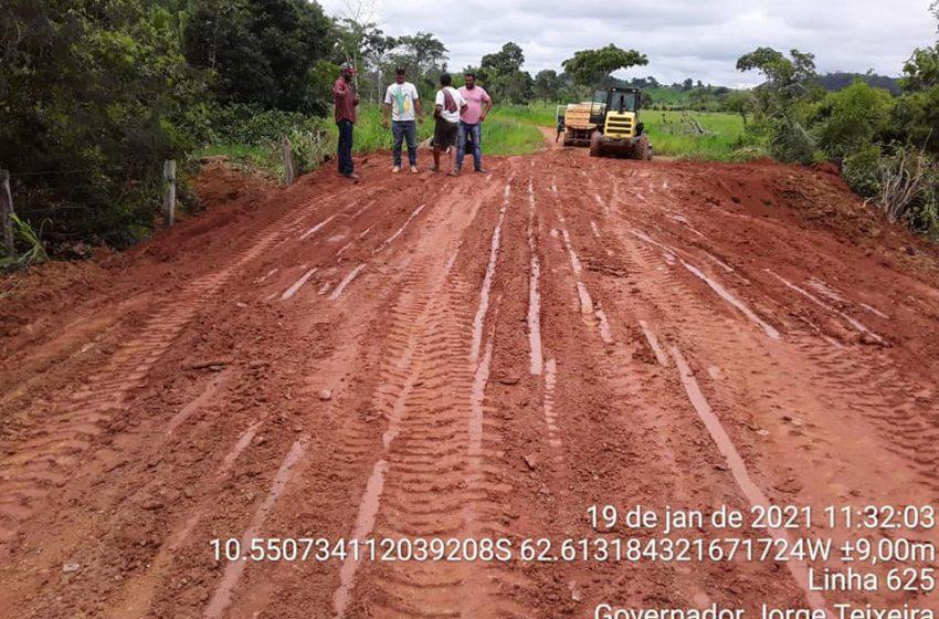 GOV. JORG TEXEIRA- A Prefeitura Municipal de Governador Jorge Teixeira, juntamente com a secretaria municipal de Obras(SEMOSP)