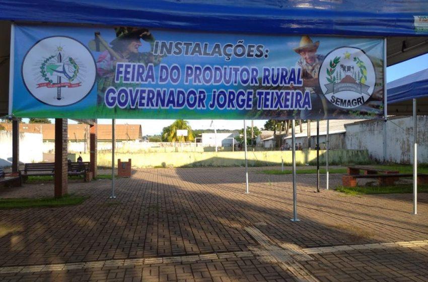 GOV. JORGE TEIXEIRA – SECRETARIA DE AGRICULTURA PROJETA REABERTURA DA FEIRA DO PRODUTOR RURAL NO MUNICÍPIO.